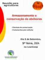 Reunião para agricultores – Armazenamento e conservação de abóboras