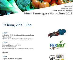 Novos debates para as Jornadas Técnicas do Fórum Tecnologia e Horticultura