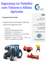 Curso de Segurança no trabalho com Tratores, Alfaias agrícolas e equipamentos agroflorestais
